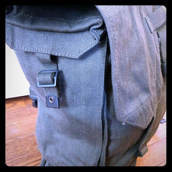 Vtg Army Backpack Knap Sack Yoga Bag